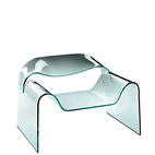 Ghost glass chair