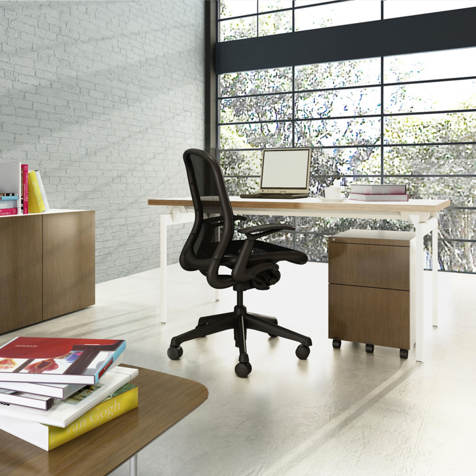 chadwick by knoll office is the desk chair refined and redefined. Black Bedroom Furniture Sets. Home Design Ideas