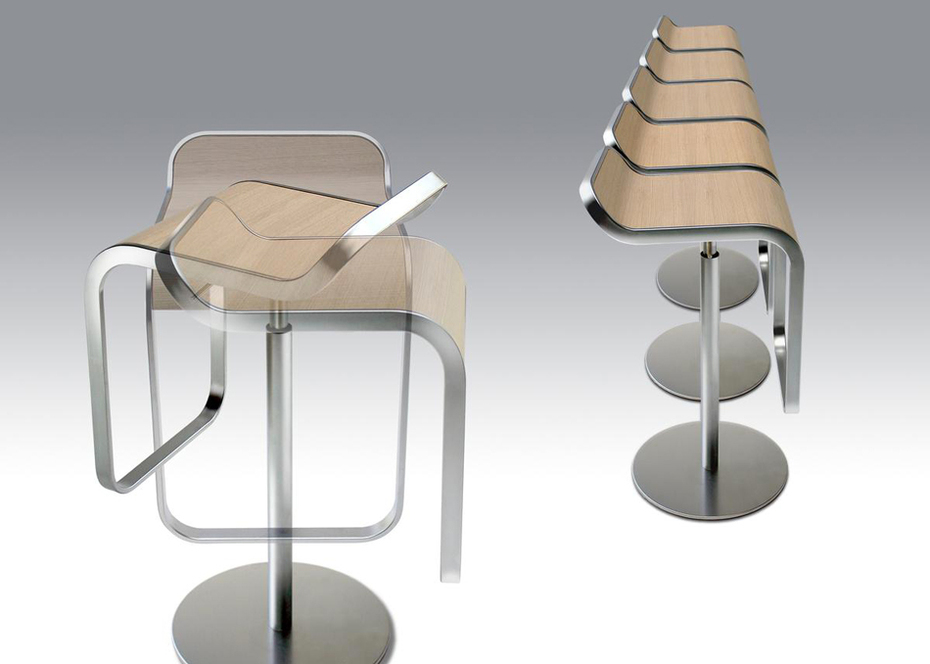 Lem barstool original by lapalma design shin tomoko azumi for Lem lapalma