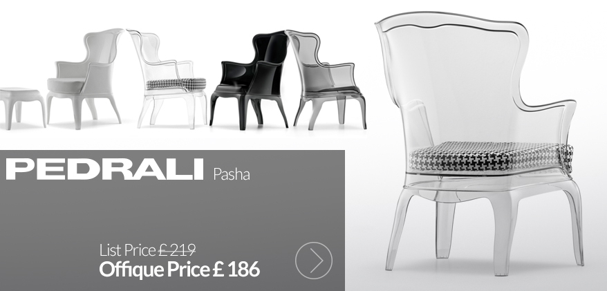 Pasha armchair by Pedrali